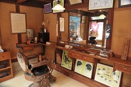 レトロな理髪店