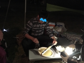 【やっちゃえ!お父さん】 キャンプ/アウトドアでやるぞっ!子供達の食いつき最高レベルの手作りクッキング「バームクーヘン」♪