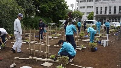 鳩ヶ谷高校 造園実習