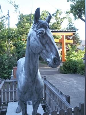 許波多神社銀の馬1706