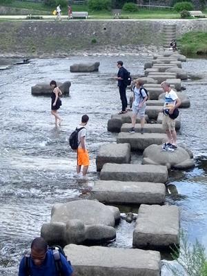 鴨川水遊び1707