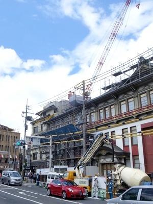 京都南座耐震工事1707