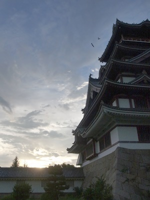 伏見桃山城の夕暮れ1708