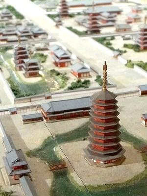 法勝寺八角九重塔模型1709
