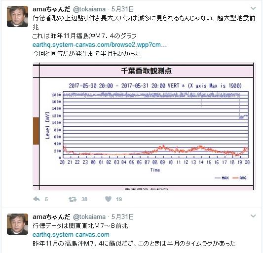 東海アマ 5月31日地震行徳