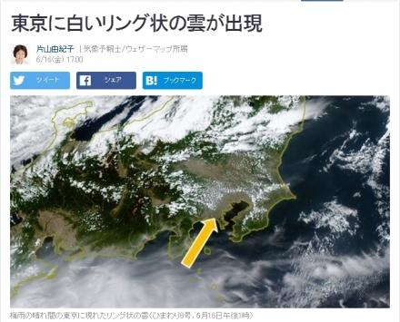 東京 白いリング雲