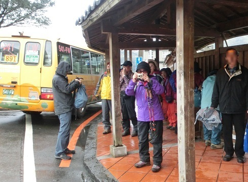 1 金瓜石のバス停