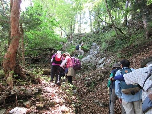 7 大天井ケ岳へ向けて最後の登り
