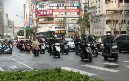 8 台北のバイク