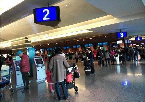 13 台北桃園国際空港へ到着