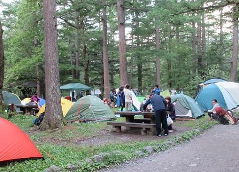 1 朝のキャンプ場