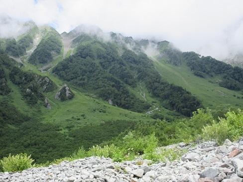 12 西穂岳の稜線