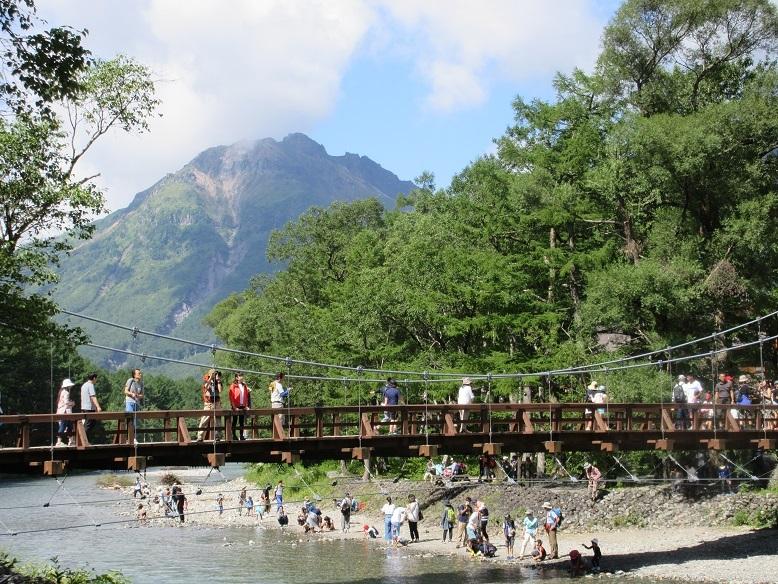 12 河童橋と焼岳