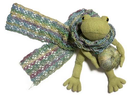 編みかけストール