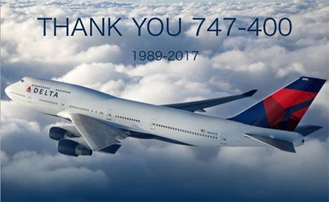 デルタ航空は、747型機退役前にフォトコンテストを開催、ラストフライト招待や記念グッズプレゼントも!