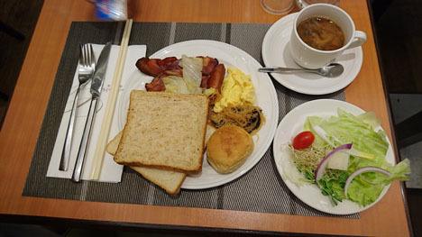 台北のホテル、ガーラホテル(台北慶泰大飯店)の朝食