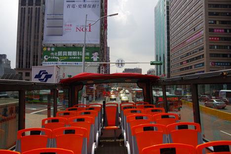 台北市2階建てオープントップバス「Hop-on, Hop-off」4時間無料チケット6