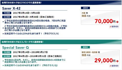 JALは、台湾行きのにおトクな運賃を設定、これって格安ツアーよりお得?