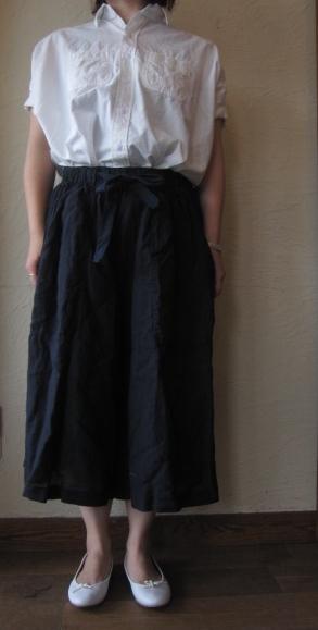 arte リネンギャザースカート