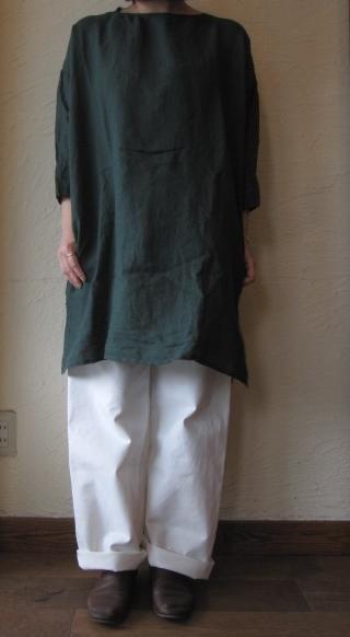 arte ロングシャツグリーン