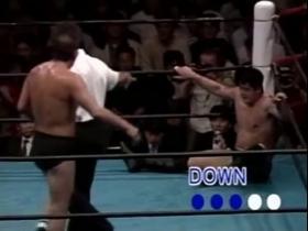 高田も3つ目のダウン!