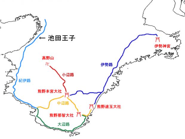 2017年08月15日、Map_Kumano_Kodo_a