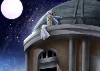 真夜中の取水塔