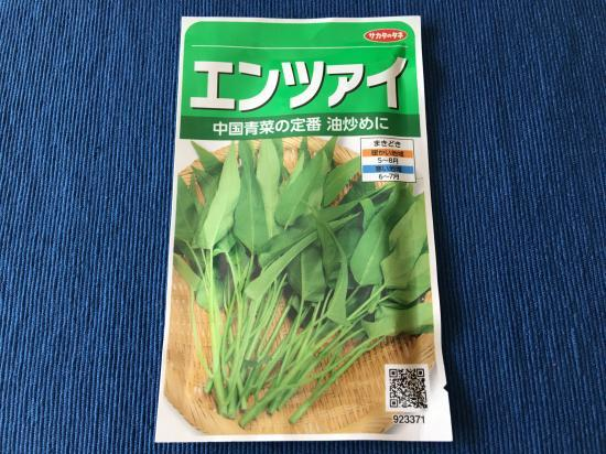 空芯菜(エンツァイ)の種2017