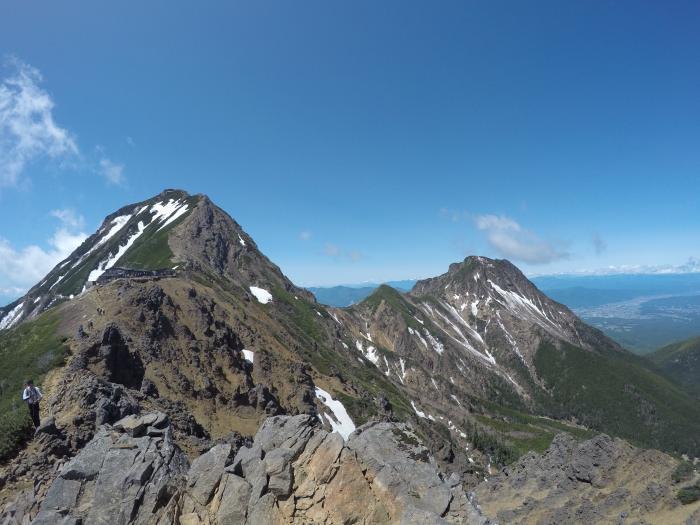 南八ヶ岳0604_赤岳と阿弥陀岳