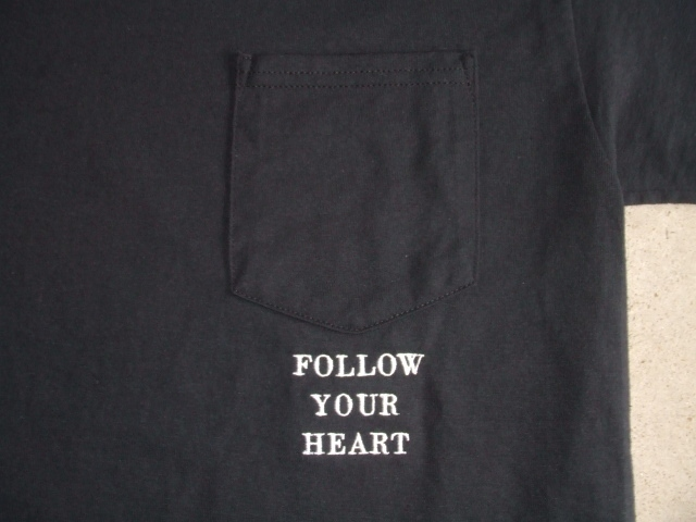 NORULE POKET TEE FOLLOW YOUR HEART2