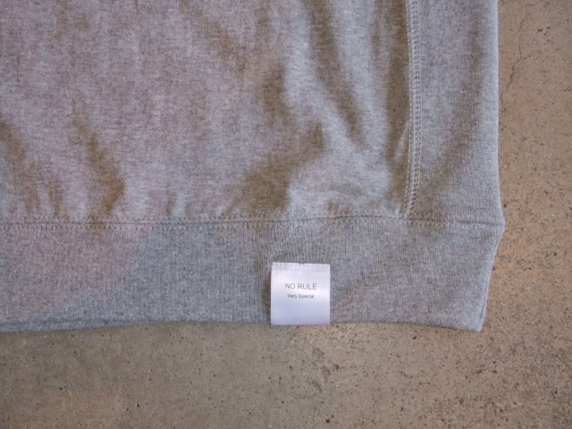 NORULE rib tee FUCKING SO GOOD Gray3