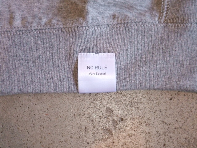 NORULE rib tee FUCKING SO GOOD Gray4