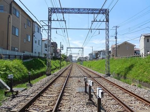 小田急江ノ島線の桜ヶ丘3号踏切@大和市d