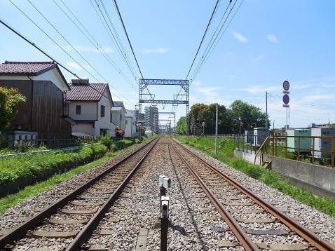 小田急江ノ島線の桜ヶ丘4号踏切@大和市d
