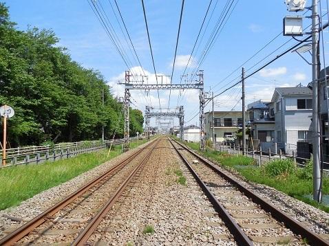 小田急江ノ島線の桜ヶ丘5号踏切@大和市d