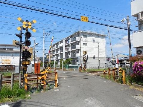 小田急江ノ島線の桜ヶ丘6号踏切@大和市a
