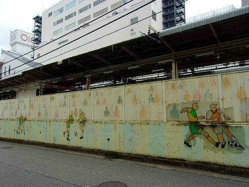 JR町田駅の壁画a