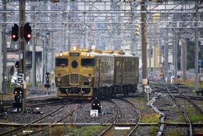 佐世保からある列車到着