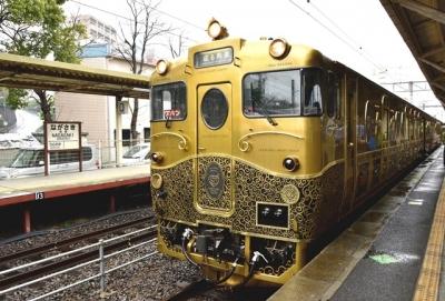 1番線ホームに入線した或る列車