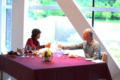 青森県立美術館ミュージアムカフェでフランス料理 四季島