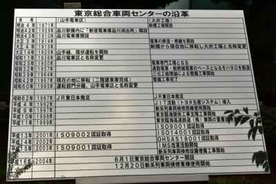 東京総合車両センター沿革