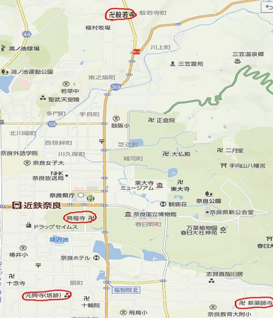 奈良の地図