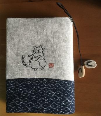猫のブックカバー