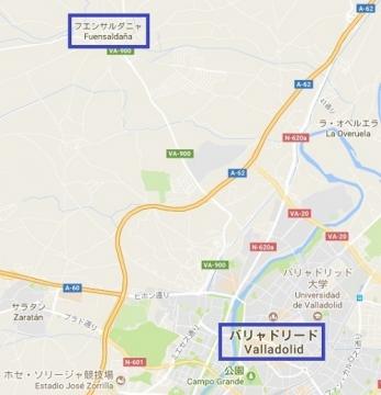Mapa a Fuensaldana