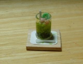 抹茶と小豆のクリームパフェ