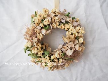 白モッコウバラのリース