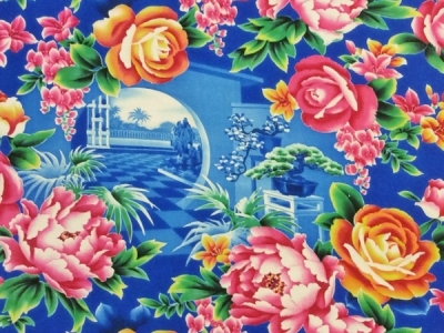 70'sヴィンテージ☆素敵な素敵なチャイナ花布
