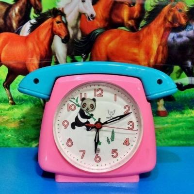 レトロチャイナ☆パンダのゼンマイ式置時計