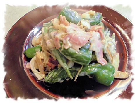 小海老とベーコンと野菜のパスタソース