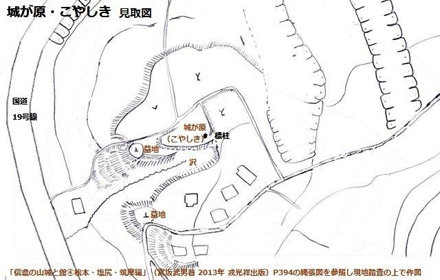 城が原・こやしき見取図①